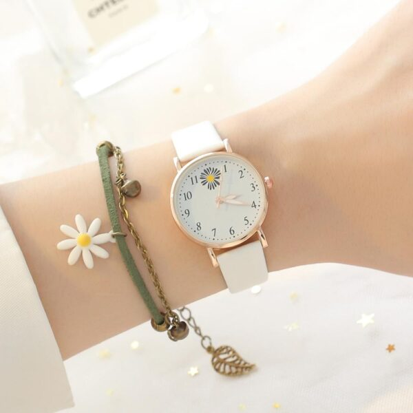 Fashion Flowers Leather Band Watches For Women Casual Analog Quartz Wristwatches Women Watches Ladies Clock Relogio Feminino Fashion Life & Accessories Iwatch & Accessories