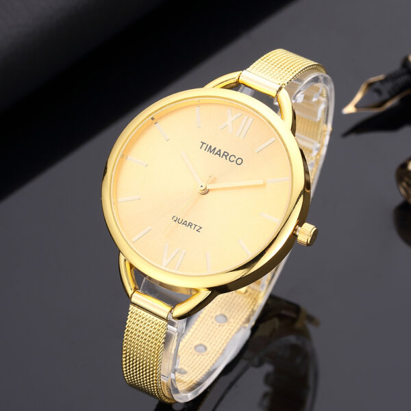 Fashion Gold Stainless Steel Mesh Women Watches Simple Casual Ultra-thin Ladies Watch Stylish Quartz Female Clock Reloj Mujer Fashion Life & Accessories Iwatch & Accessories