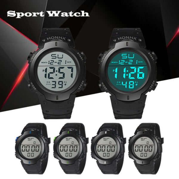 Fashion Men Digital Watches Waterproof Mens Sport Quartz Wristwatches Relogio Masculino Military Led Men Electronic Watches Fashion Life & Accessories Iwatch & Accessories