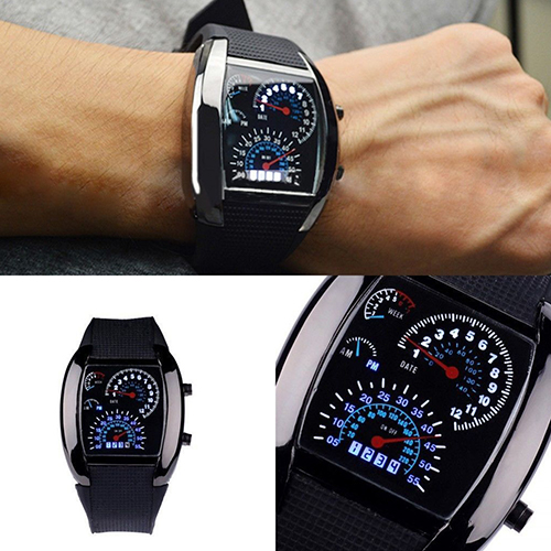 Fashion Men Stainless Steel Luxury Sport Analog Quartz LED Wrist Digital Military Watch Top Luxury Electronics Watches Fashion Life & Accessories Iwatch & Accessories