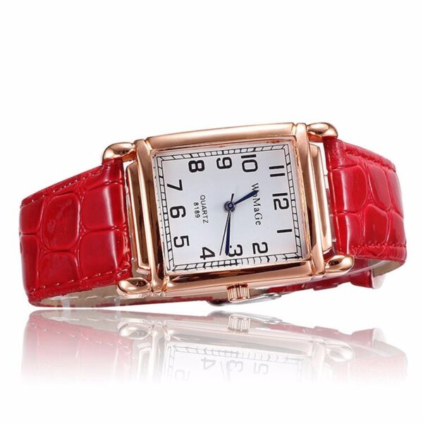 Fashion Red Leather Women Watches Casual Woman Watch Reloj Mujer Dress Ladies Watch Luxury Stylish Women Clock 2019 Montre Femme Fashion Life & Accessories Iwatch & Accessories
