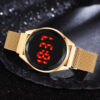 Fashion Rose Gold Led Digital Dial Women Watches Simple Magnetic Dress Quartz Watch Luxury Watch Gift Drop Shipping Fashion Life & Accessories Iwatch & Accessories