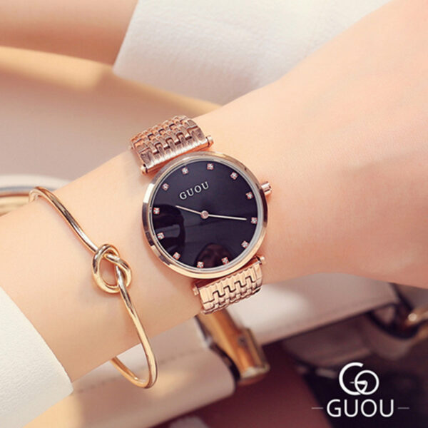 Fashion Rose Gold Stainless Steel Women's Watches Luxury Ladies Diamond Wrist Watch For Women Reloj Mujer Exquisite Female Clock Fashion Life & Accessories Iwatch & Accessories
