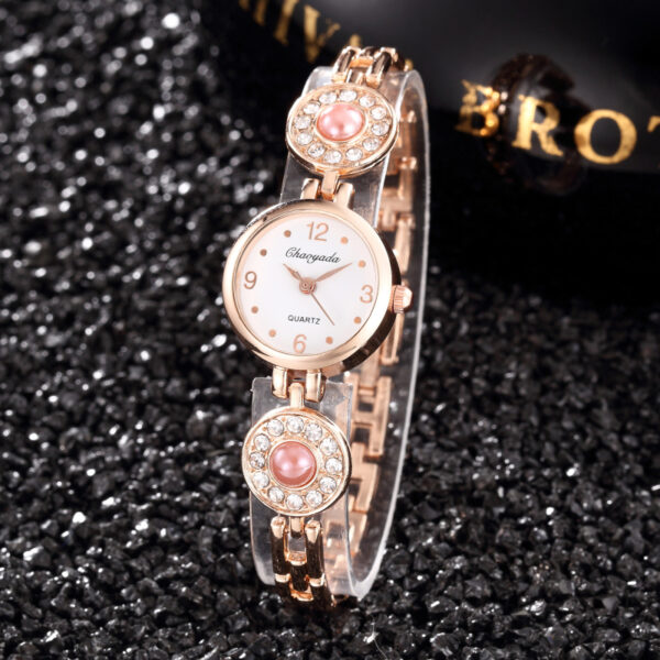 Fashion Small Stainless Bracelet Women Watch Luxury Rhinestone Pearl Jewelry Ladies Watch Female Casual Hand-Chain Clock #2TWF Fashion Life & Accessories Iwatch & Accessories