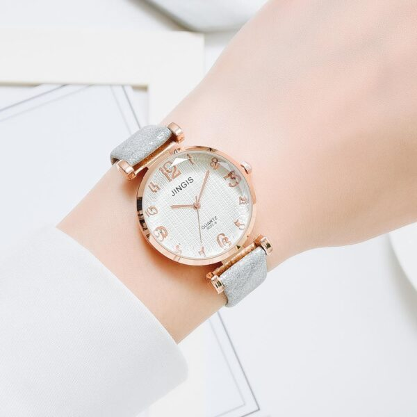 Fashion Sports Leather Belt Dress Watches For Women Casual Number Dial Simple Business Bracelet Quartz Clock Relogio Feminino Fashion Life & Accessories Iwatch & Accessories