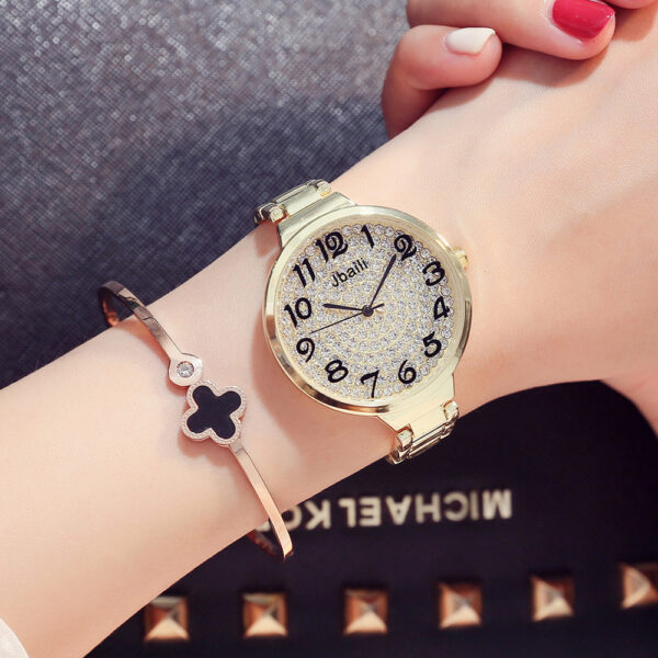 Fashion Stainless Steel Women Watches Top Brand Luxury Crystal Woman Dress Clock Ladies Casual Wrist Watch Reloj Mujer New #3TWL Fashion Life & Accessories Iwatch & Accessories