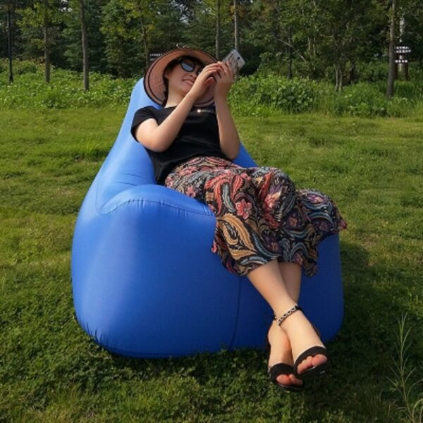 Fast Inflatable Sleeping Bag Outdoor Beach Sun Lounger Blow Up Camping Lounge Chair Air Filled Lounger Camping Sofa Swimming