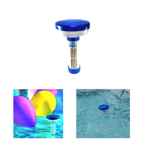 Floater Dispenser Adjustable Rotating Pool Dispenser With Scale Plastic Floating Swimming Pool Blue Pool Dispenser Accessories Swimming