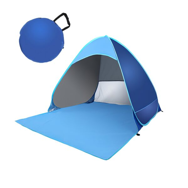 Folding Camping Tent Outdoor Beach Tent Fully Automatic Build Four Seasons Tent Sun Shelter Gauze Protection Mesh Curtain Tents Swimming