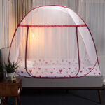 Folding Mosquito Net Canopy With Bracket Bed Tent for Adult Girls Room Decoration Tent Bed Curtain With Frame Home Bedroom Decor Bedrooms