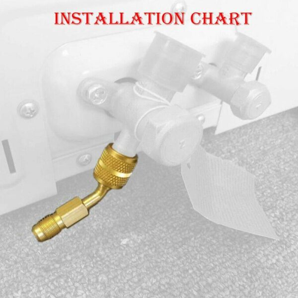 For Auto Air Conditioning R410A R22 R32 Mobile Head adapter 1/4 Adapter x Refrigerator Air W Thread SAE Tool M conditioning J8F4 Car accessories