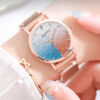 Gaiety Brand Watch For Women Alloy Belt Casual Simple Dial Starry Sky Luxury Quartz Wristwatches Gift Relogio Feminino Fashion Life & Accessories Iwatch & Accessories