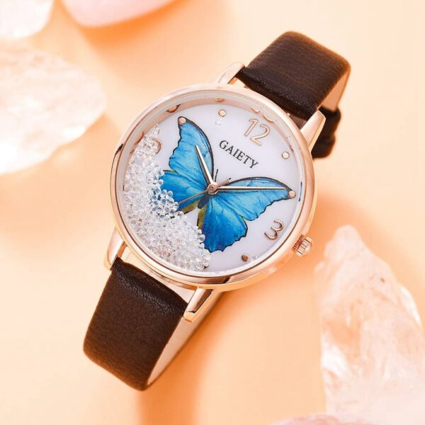 Gaiety Brand Women Watches Luxury Removable Rhinestone Butterfly Ladies Watches Leather Dress Female Wrist Watches Fashion Clock Fashion Life & Accessories Iwatch & Accessories