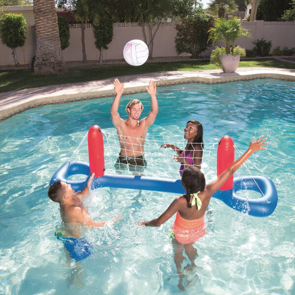 Giant Inflatable Pool Toy Volleyball Football Ball Game Swimming Game Toys Air Mattresses Large Floating Island Boat Toy Party Swimming