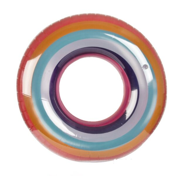 Giant Inflatable Printed Rainbow Swimming Ring For Adult And Kids Summer Party Pool Float Water Tube Toys Lounger Boia Piscina Swimming