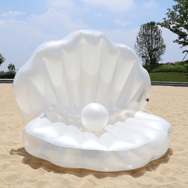 Giant Pool Float Shells Inflatable In Water Floating Row Pearl Ball Scallop Aqua Loungers Floating Air Mattress Donuts Swim Ring Swimming