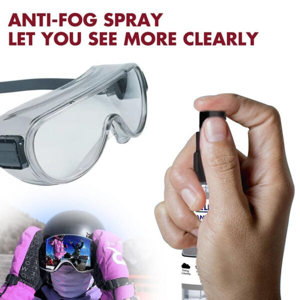 Glasses Antifogging Agent High Quality Durable Portable Lightweight Anti-Fog Spray For Swimming Goggles Diving Goggles 120ml Car accessories