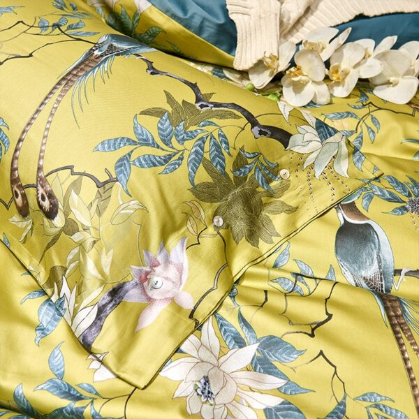 HD printed Birds Branch printed Premium Egyptian cotton Silky Soft Duvet Cover Family size US King Queen Size Bedding Set 4/6Pcs Bedrooms