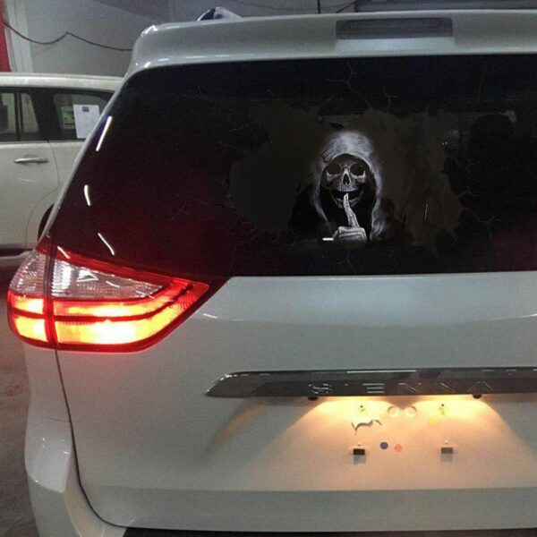 Happy Halloween Wall Floor Sticker Horror Wall Stickers Silent Skull Sticker car Window Home Decoration Decal Decor Party Car accessories