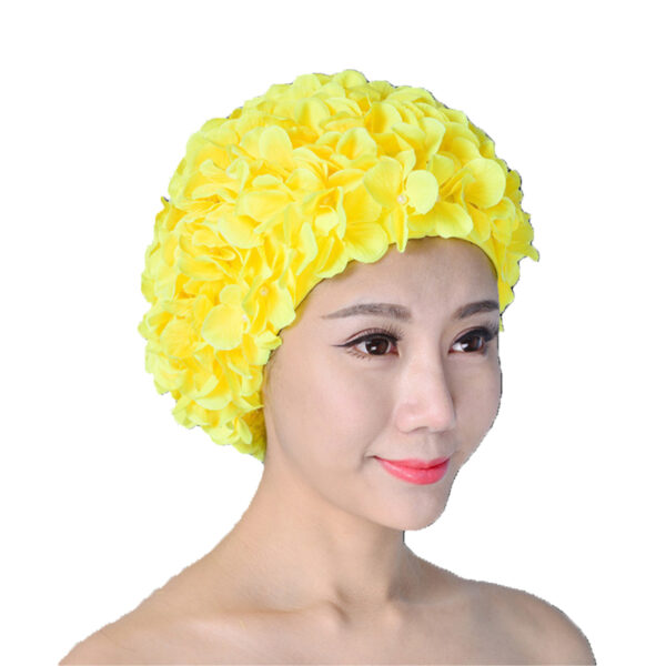 High Elastic Swimming Caps Adult Waterproof Stretchable Comfortable Ears Protection Long Hair Summer Swiming Pool Bathing Hat Swimming