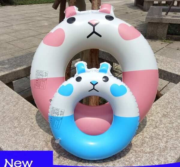 High Quality Inflatable Swimming Ring for kids Happy Bear Rabbit Pool Float Swimming Circle Floating Ring for Kids And Adults Swimming