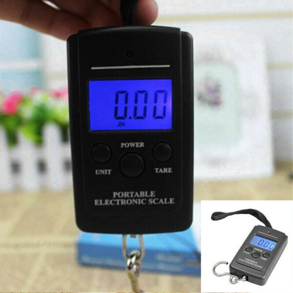 High-precision household portable electronic scale scale scale Travel For Fishing Kitchen mini hook Weighting Luggage W6Z8 Car accessories