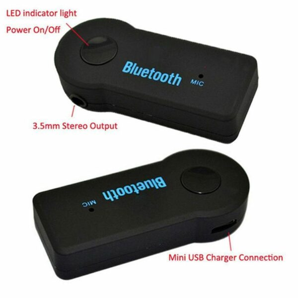 Hippcron Bluetooth Transmitter Bluetooth 5.0 Adapter Audio AUX Music Wireless Receiver Handsfree with Headphone 3.5mm Jack W6N3 Car accessories