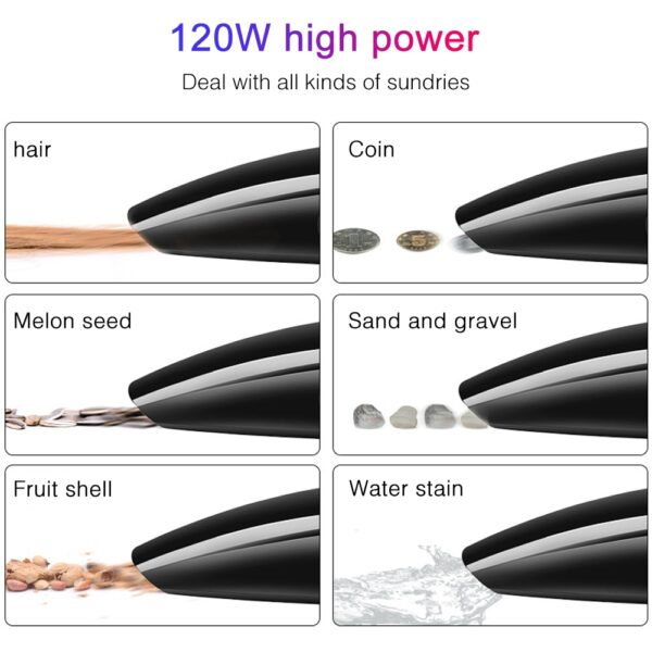 Hot 120W Car Vacuum Cleaner for car High Suction 5M Wet And Dry dual-use Vacuum Cleaner Handheld 12V Mini Car Vacuum Cleaner Car accessories