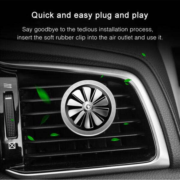Hot Car Air Freshener Perfume Mini Fan Cute Auto Air Vent Clip Outlet Aromatherapy Car-styling Interior Accessories Car accessories
