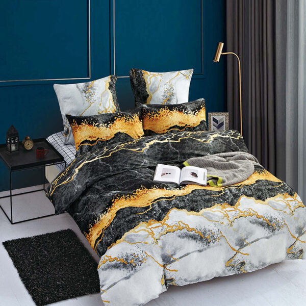Hot Selling HD T fashion bedding set Pure cotton A/B double-sided pattern Simplicity Bed sheet, quilt cover pillowcase 4-7pcs Bedrooms