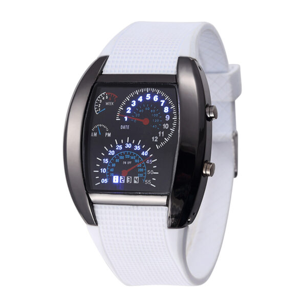 Hot Selling Unique Sports Digital Watches Men Women LED Wrist Watch Rubber Band Electronic Clock With Date Week Drop Shippping Fashion Life & Accessories Iwatch & Accessories