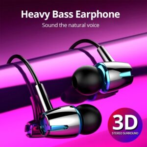 In-Ear Wired Earphone 3.5mm Earbuds Earphones Music Sport Gaming Headset With mic For Xiaomi Samsung Huawei Phone Stereo Bluetooth headphones