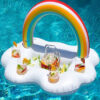 Inflatable Clouds Rainbow Drink Holder Pool Floats Inflables Cup Holder Swim Ring Pool Toys Mini Boia Piscina Inflatable Holder Swimming
