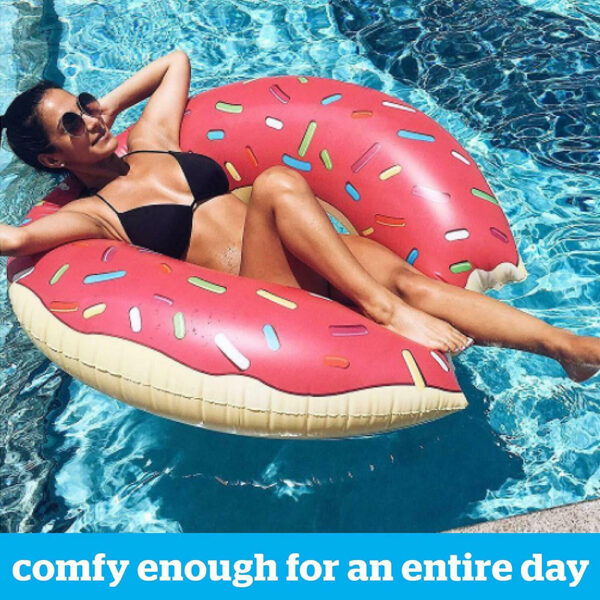 Inflatable Donut Swimming Ring Giant Pool Float Summer Outdoor Activitives Beach Party Swimming Pool Inflatable Mattress Water Swimming