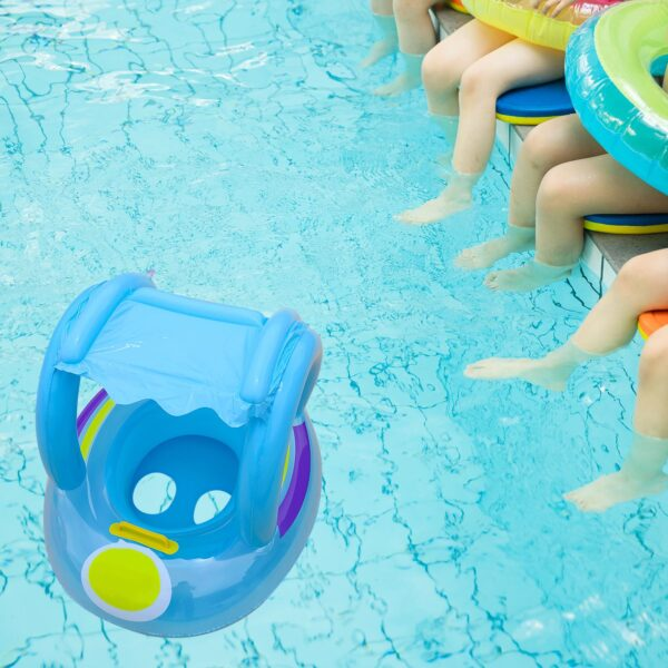 Inflatable Float Seat Sunshade Baby Swimming Circle Swimming Ring Baby Swimming Accessories Inflatable Seat Toys Swimming