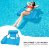 Inflatable Mattresses Water Hammock Folding Swimming Pool Floating Lounge Bed Chair Air Sofa for Summer Outdoor Water Sports Swimming