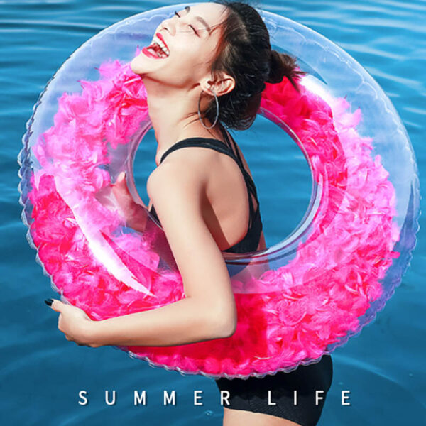 Inflatable Swimming Ring Giant Pool Float Toy Circle Beach Sea Party Inflatable Mattress Water Adult Summer Swim Circle Float Swimming