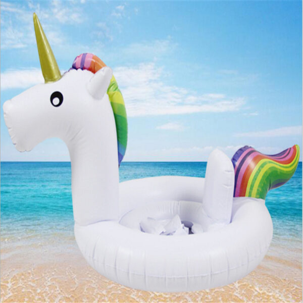 Intime Inflatable Unicorn Giant Pool Float Flamingo Swimming Ring Kids Beach Water Family Party Car For Child Water Swiming Ring Swimming