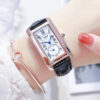 JRANDE Square Wrist Watch For Ladies Women Wristwatch 2021 Stainless Steel High Quality Japan Movt Rose Gold Diamond Luxury Gift Fashion Life & Accessories Iwatch & Accessories