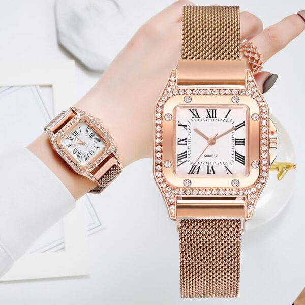 Japan Movement Women Rose Gold Watches Simple Fashion Casual Watch Luxury Ladies Square Watch Relogio Feminino Fashion Life & Accessories Iwatch & Accessories