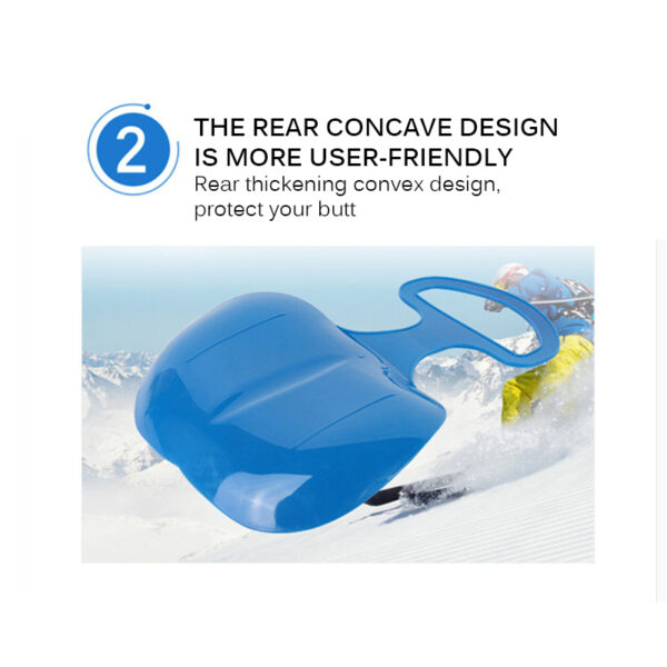 Kids Snowboard Sleds Winter Outdoor Sport Thick Plastic Boards Sand Grass Sled Snow Luge Ski Skating Skiing Sled Kids Gift Swimming