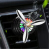 LED Car air freshener Conditioning Alloy Auto Vent Outlet Perfume Clip Fresh Aromatherapy Fragrance Atmosphere Light Car accessories