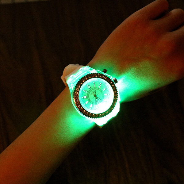 LED Flash Luminous Watch 2021 Hot Sales Fashion Casual Students Boys Girls Lovers Women Men's Watch Silicone Clock Kids Children Fashion Life & Accessories Iwatch & Accessories