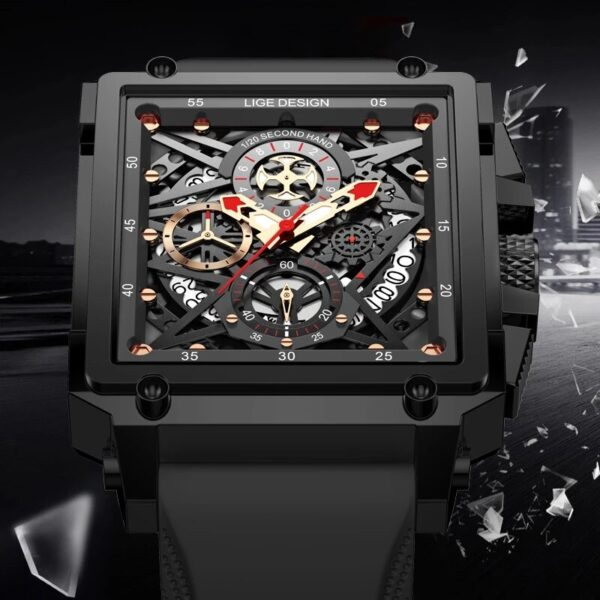 LIGE 2021 Mens Watches Luxury Waterproof Quartz Watch for Men Silicone Watch Auto Date Chronograph Male Clock Relogio Masculino Fashion Life & Accessories Iwatch & Accessories