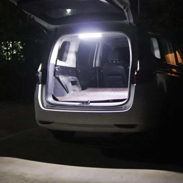 Led Car Interior White Strip Light Bar Car Interior Lorry On/off Camper Boat Lamp Reading Tube For Van Lamp With Truck Swit E9I7 Car accessories