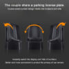 Luminous Double Sides Car Temporary Parking Card Car Phone Number Card Plate Stickers For Car Styling Car Sticker Auto Night Car accessories