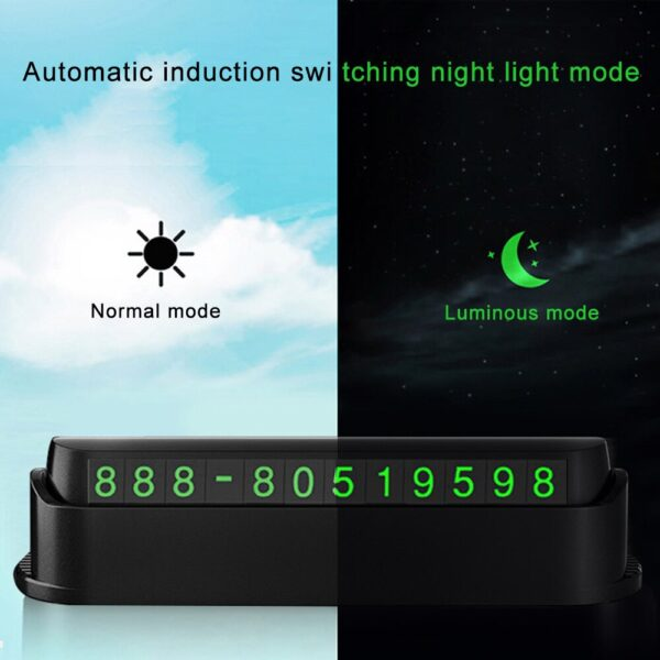 Luminous Phone Number Card Plate Car Temporary Parking Card Sticker Car Air Freshener Universal 4 in 1 Function Car Accessories Car accessories