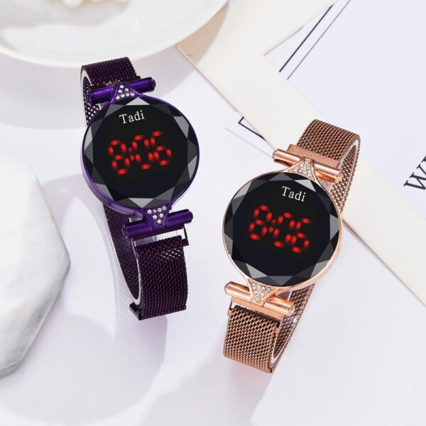 Luxury Brand Magnet Watches For Women Rose Gold Stainless Steel Dress LED Quartz Watch Female Clock Relogio Feminino Drop Ship Fashion Life & Accessories Iwatch & Accessories