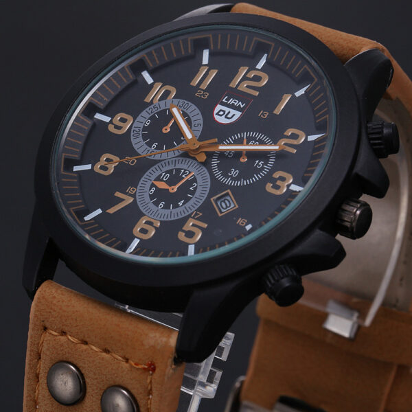 Luxury Classic Men Watch 2020 New Military Sport Stainless Steel Waterproof Date Leather Sport Quartz Watch Relogio Masculino Fashion Life & Accessories Iwatch & Accessories