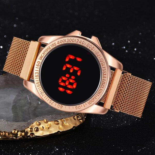 Luxury Digital Magnetic Watches For Women Rose Gold Stainless Steel Dress LED Quartz Watch Relogio Feminino Dropshipping Clock Fashion Life & Accessories Iwatch & Accessories
